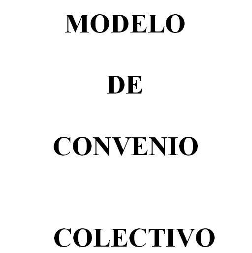 Modelo de Convenio Colectivo